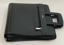 Classic Franklin Covey Black Leather With Rings Zip Plannerbinder With Handles