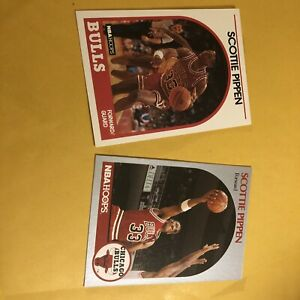 Scottie Pippen Lot of (2) 1989 HOOPS # 244 And 1990 HOOPS # 69Chicago Bulls Mint