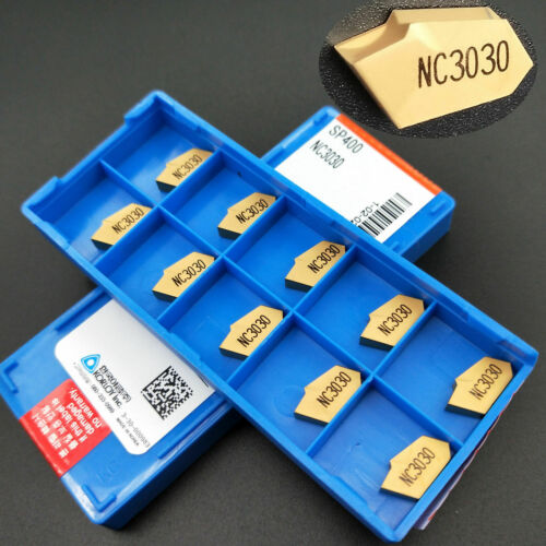 SP400 NC3030 4mm wide Grooving one-blade cut off carbide inserts for steel 10pc