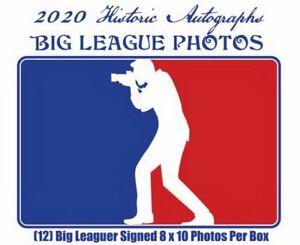 2020 Historic Autographs Big League 8x10 Photos Baseball Box 12 Autos 1 HOF Auto