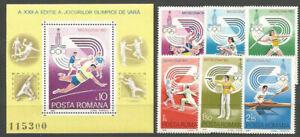 Rumania - Correo 1980 Yvert 3289/94+H,144 ** Mnh Juegos Olimpicos de Moscu
