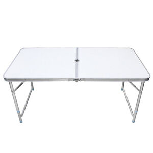 Folding table portable plastic outdoor indoor fold picnic - Plastic folding dining table ...