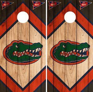 Regulation Vinyl Wrap Florida Gators Cornhole Set W Bags