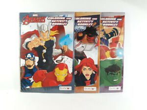 Marvel-Avengers-Coloring-And-Activity-Booklet-3-Pack-BRAND-NEW-SEALED-2019