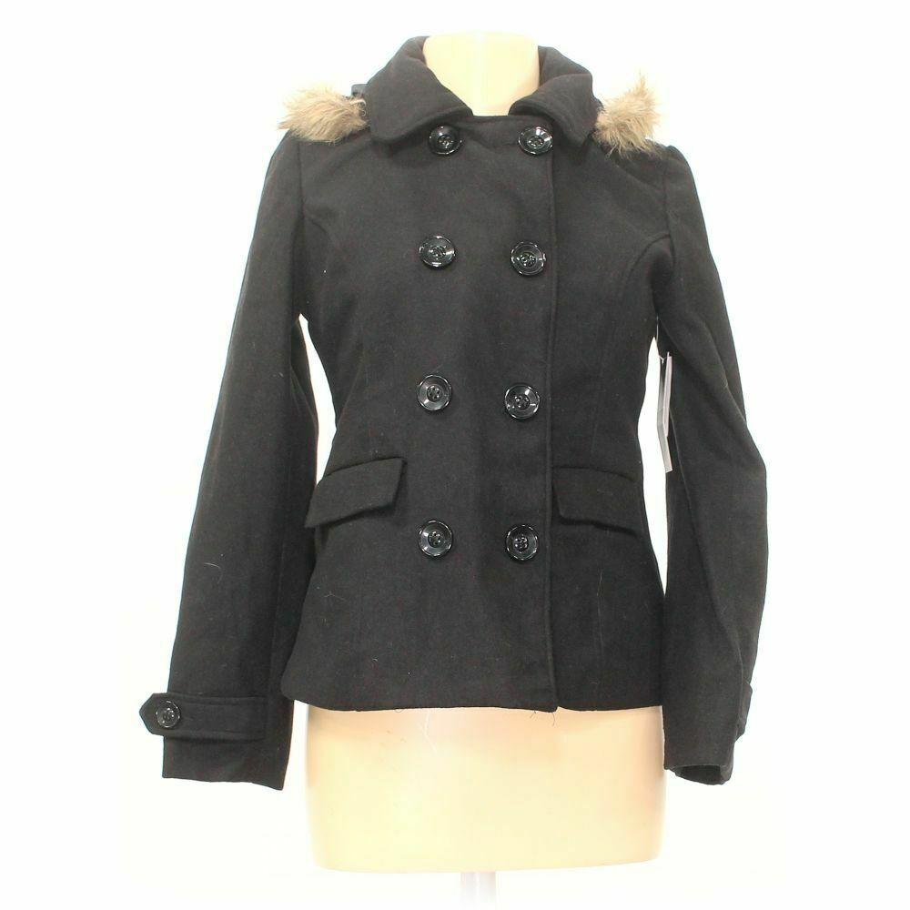 Black Lipstick Women's Coat size M, grey, polyester, wool, other