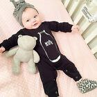 Newborn Toddler Kids Milk Baby Boy Girl Jumpsuit Romper Bodysuit Outfit Clothes