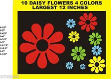 10 DAISY FLOWER POWER CAR DECALS BEETLE STICKERS 4 COLORS AS SHOWN PATTERNSRUS