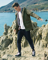 Hollister By Abercrombie Coated Cotton Sherpa Parka Coat Jacket S/m/l/xl