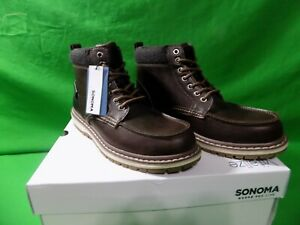 Life Abraham Ankle Boots Shoes Brown Sz