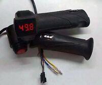 Electric Bike Twist Throttle 12-100v Led Display Voltmeter & On Off Kill Switch