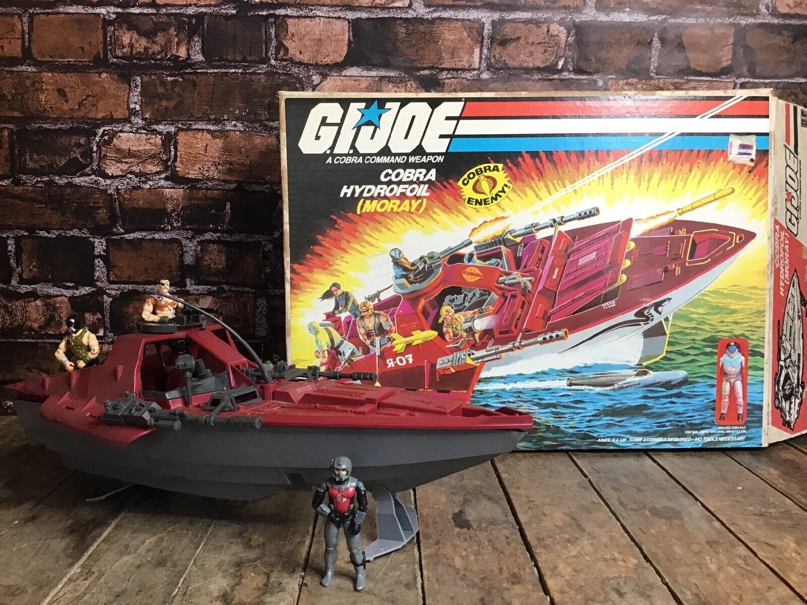 G.I JOE-Moray Hydroptère Top Gun Turret-Original 1985 un vrai héros américain
