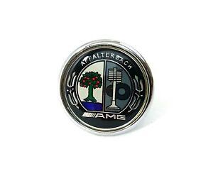 Mercedes-AMG-Logo-Emblem-Badge-Front-Bonnet-Hood-Class-C-E-S-45mm-Chrom-Metal