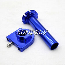 "7/8"" 22mm Blue Motorcycle CNC Accelerator Handle Bar Control Grip Throttle Twist"