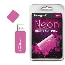 Integral 128GB Neon USB Flash Drive in Pink, a GADGET SHOW AWARD WINNER.