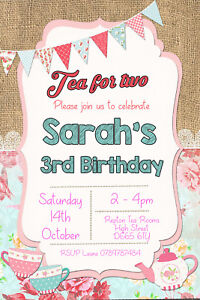 Image Is Loading Personalised Tea For Two Afternoon Party Birthday