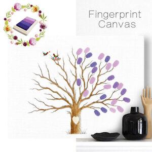 Eg Leinen Hochzeit Baum Fingerabdruck Unterschrift Gastebuch Dekor