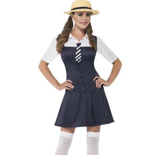 Hat /& Stockings School Girl by Smiffys Ladies Schoolgirl Fancy Dress Costume