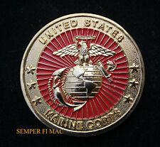 US MARINE CORPS CHALLENGE COIN EGA MARINES VETERAN PIN UP USMC GIFT PIN UP WOW