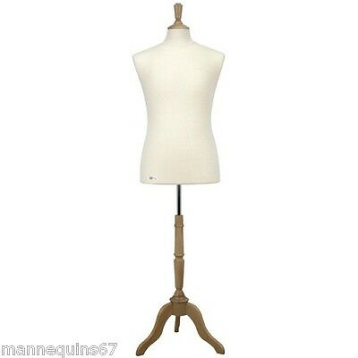 MANNEQUIN BUSTE HOMME UNIFORME VETEMENT VITRINE COUTURE MADE IN FRANCE