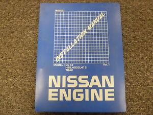 nissan cg13 h25 h20 ii h15 tb42 engine shop service repair rh ebay com nissan h20 engine manual pdf nissan h20 engine service manual