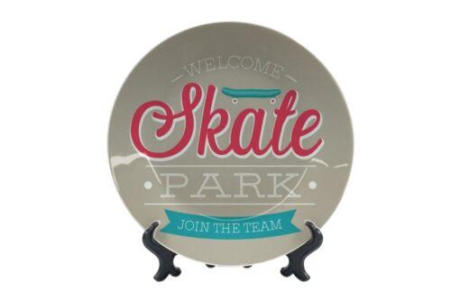 Teller Sport  Skate Park Keramik bedruckt