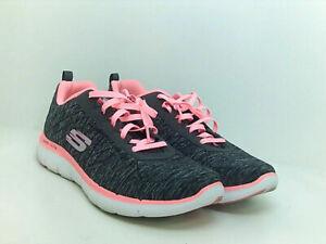 Skechers-Women-039-s-Flex-Appeal-2-0-Sneaker-Black-Coral-Air-Cooled-Size-8-US