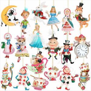 3 x Gisela Graham décoratifs en bois Poire Arbre de Noël ornement suspendu 437