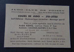 Carte De Membre JUDO CLUB DE POISSY Jiu