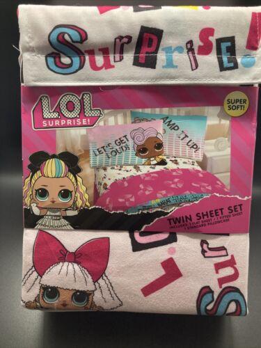 3 LOL surprise! ** Neuf Ajustée//plat + taie d/'oreiller Piece Twin Sheet Set **