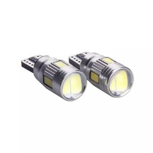 2-ampoules-Veilleuses-LED-ampoules-W5W-T10-Blanc-XENON-6-leds-voiture-moto