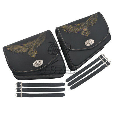 Eagle Motor Eagle Saddlebag Side Luggage Bags Cruiser Bobber Cafe Racer Chopper