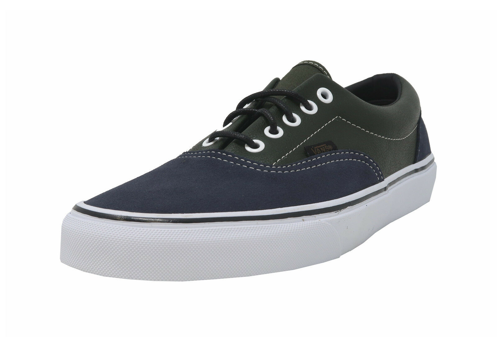 VANS Era Navy blu Suede verde Leather Lace Up sautope da ginnastica Adult Men sautope Sautope classeiche da uomo