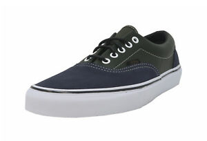 f84e5dc802 VANS Era Navy Blue Suede Green Leather Lace Up Sneakers Adult Men ...