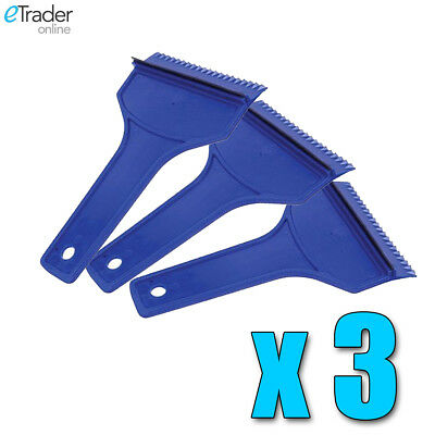 CARPLAN CAR SNOW /& ICE SCRAPER WITH SQUEEGEE BLUE// 10CM