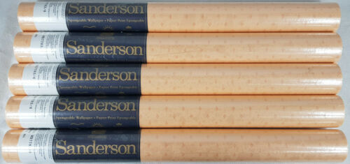 Job Lot. 5 x Sanderson Spongable Wallpaper Rolls WR7783//6 Peach Diamante