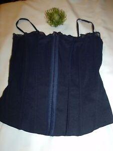 Eye Bodice Strapless Hook Mexx Front Boned Navy Size 8 amp; Fastening corset wa8pqICx