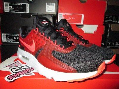 Nike Air Max Zero Essential Black Bright Crimson Red 876070 007 Sz US 10 New