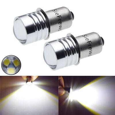 2pcs Upgrade LED Flashlight Bulb 3V 4.5V 6V White P13.5S Base Bulbs Torch LED