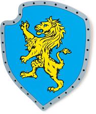 Bouclier bois Lion jaune