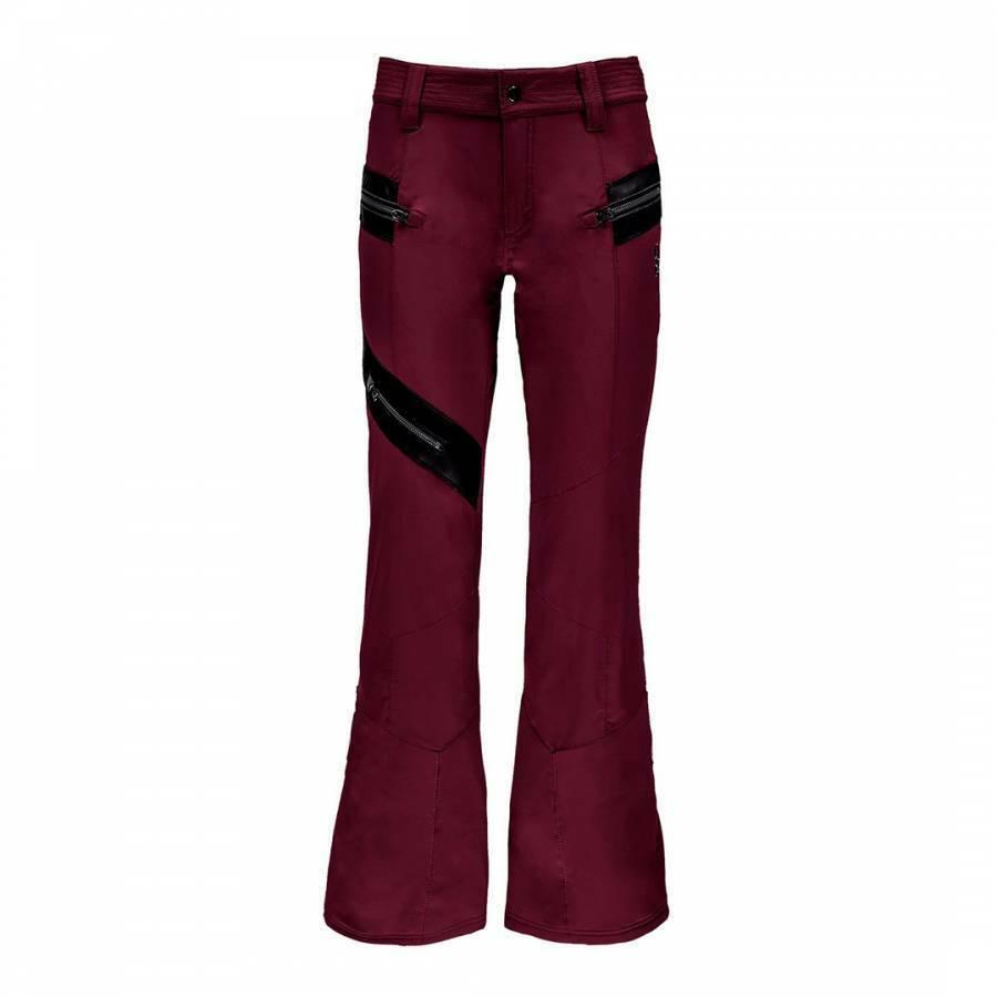 SPYDER Women's Burgundy Amour Ski Trouser Pant