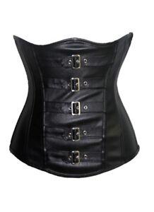 Lack schwarz Unter Brust Corsage Korsett Clubwear Gothic