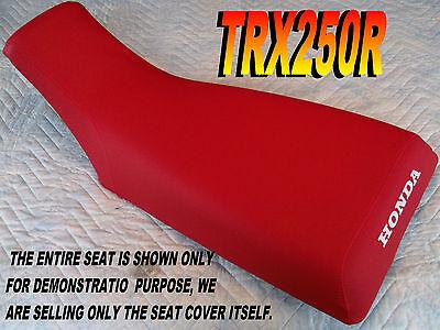 "New Red /& Black Ribbed /""HONDA/"" SEAT COVER TRX 450R 2004-09"