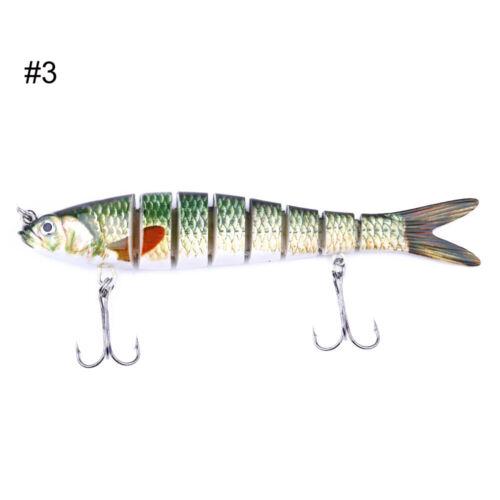 8 Segment Multi Jointed Fish Lure Attractive Crank Baits Bass Life-like Swimbait