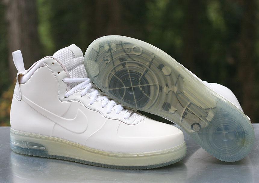Nike air force di alto foamposite bianco del ghiaccio blu 415419-100 Uomo numero 14
