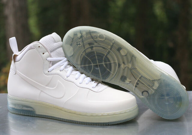 promo code 1d320 f8c4c Nike Air Force 1 High Men's Size 14 Foamposite White Ice Blue 415419-100