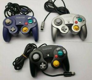 Official-Nintendo-Gamecube-controller-Choose-1-2-3-4-Indigo-Black-Silver-TIGHT