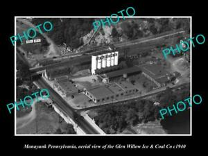 OLD-LARGE-HISTORIC-PHOTO-OF-MANAYUNK-PENNSYLVANIA-AERIAL-VIEW-OF-G-W-Co-c1940
