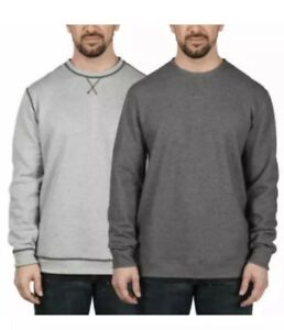 Island-Sands-Long-Sleeve-Reversible-Crew-neck-Sweater-Grey-Charcoal-Large