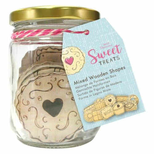 Mixed Wooden Shapes Sweet Treats Papermania Craft Collection 20pcs