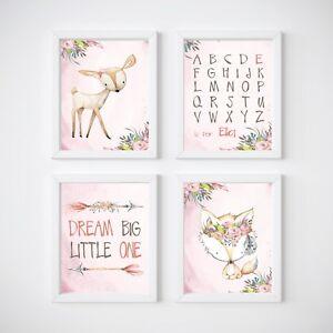 Image Is Loading Woodland Animals Nursery Wall Decor Prints Fox Tee